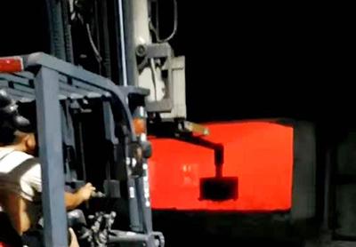 20吨铝棒熔炉用高温除铁器