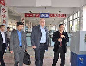 海外客户来访怀功洽谈电磁吸盘合作